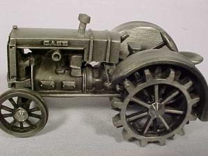Pewter Case On Steel Wheels Tractor By Spec Cast