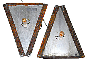 Pair Of Industrial Lighting Sconces