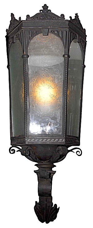 Colonial Revival Monumental Exterior Sconce