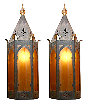 Pair Of Arts And Crafts Antique Wall Sconces
