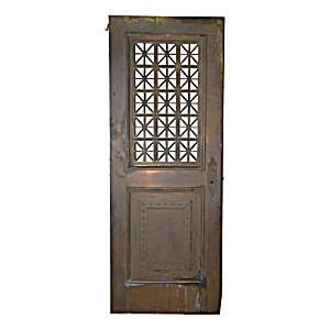 Vintage Steel Bank Vault Door