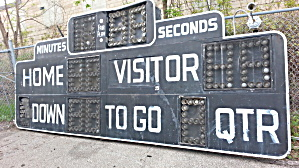 Scoreboard Football Stadium Vintage