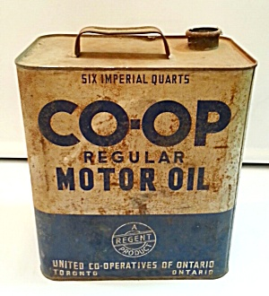 Old Motor Oil Tin