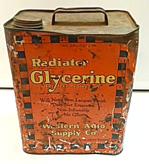 Old Rad Coolant Tin