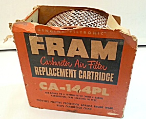 Old Fram Filter In Box