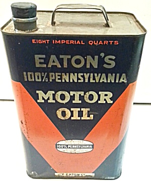 Old Estons Motor Oil Can