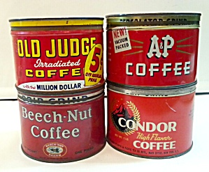 Old Coffee Tins