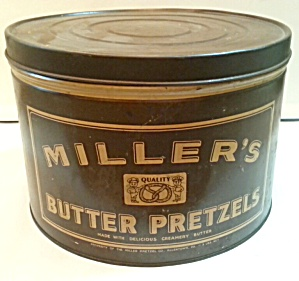 Old Pretzel Tin