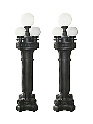 Antique Cast Iron Lamp Posts