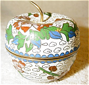 Cloisonne Box In Shape Of An Apple