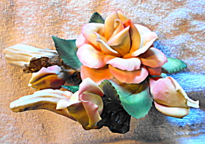 Capodimonte Rose Sculpture