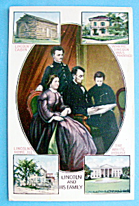 Abraham Lincoln & His Family Postcard (Family Portrait)