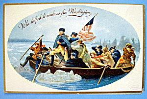 Washington Crossing The Delaware Postcard (Embossed)