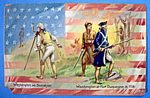 Washington At Fort Duquesne Postcard (Two Views)
