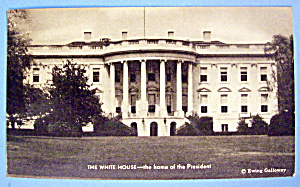 The White House Postcard With Home Of The President