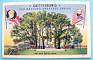 Gettysburg (Nation's Greatest Shrine) Postcard