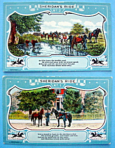 6 Sheridan's Ride Postcards