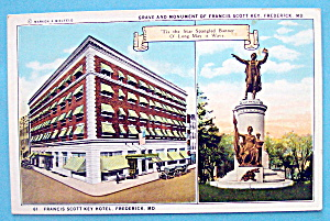 Grave & Monument Of Francis Scott Key Postcard
