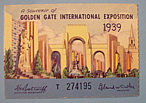 Golden Gate International Exposition Ticket