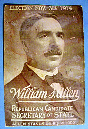 1914 William S. Allen Mailing Card