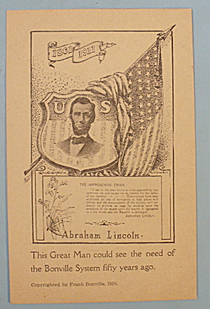 Abraham Lincoln (The Approaching Crisis) Postcard