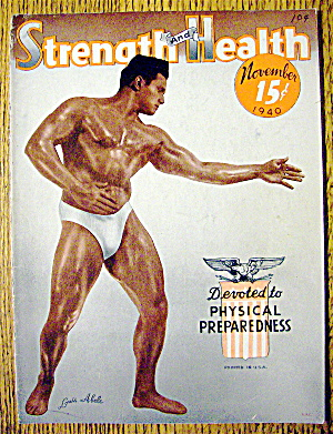 Louis Abele 1940 Strength & Health Magazine Cover