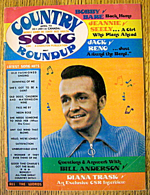 Country Song Round Up April 1973 Bill Anderson