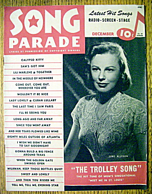 Song Parade Magazine December 1944 June Allyson