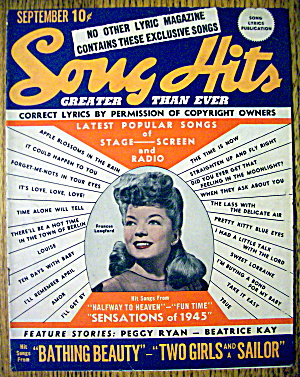 Song Hits Magazine September 1944 Frances Langford