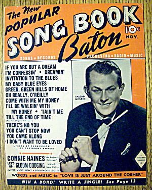 Song Book Baton November 1945 Vaughn Monroe Cover