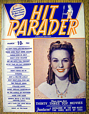 Hit Parader Magazine March 1945 Deanna Durbin Cover