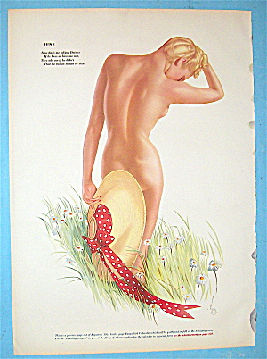 Esquire Girl Pin-up December 1941 June/january 2 Sided
