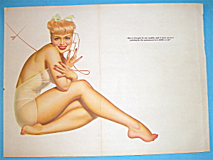 Petty Pin Up Girl December 1941 Woman On Telephone