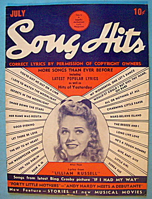 Song Hits July 1940 Alice Faye