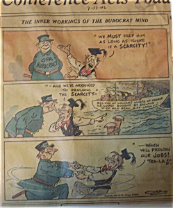 Political Cartoon - July 17, 1946 Burocratic Mind
