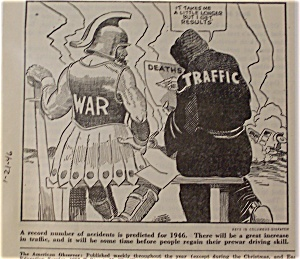 Political Cartoon January 21, 1946 The Biggest Killers