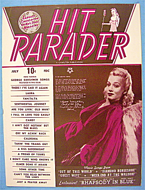 Hit Parader Magazine July 1945 Carole Landis