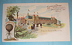 Foreign Exhibits Building (Lewis & Clark Expo 1905)