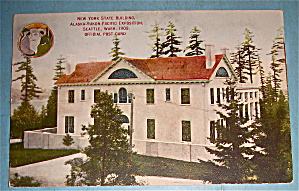 New York State Building Postcard (Yukon Pac Expo)