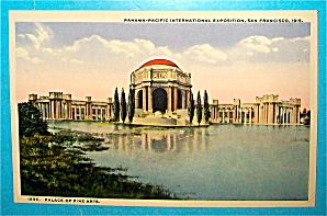 Palace Of Fine Arts Postcard-panama Pacific Exposition