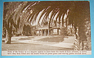 Los Angeles Homes Postcard (Pan Pac International Expo)