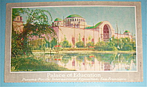 Palace Of Education Postcard-pan Pac International Expo