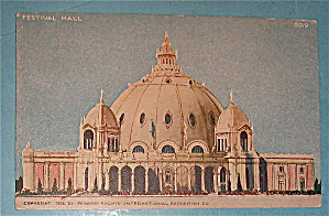 Festival Hall Postcard (Panama Pacific Expo)