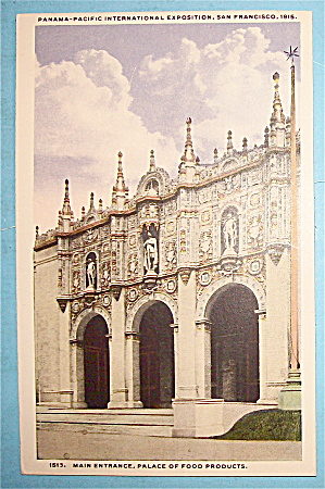Main Entrance, Palace Of Food Products Postcard