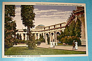 View Inside Court Of Four Seasons Postcard