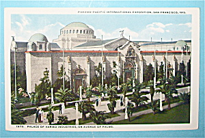 Palace Of Varied Industries Postcard (Pan Pac Expo)