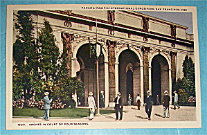 Arches In Court Of Four Seasons Postcard (Pan Pac Expo)