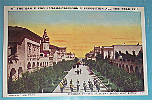 Marines From U.s.s. San Diego Visit Expo Postcard