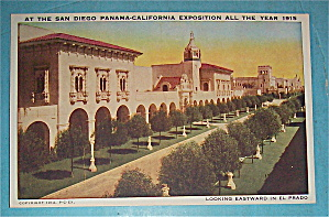 Looking Eastward In El Prado Postcard