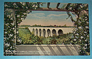 Puente Cabrillo Through Lower Pergola Postcard